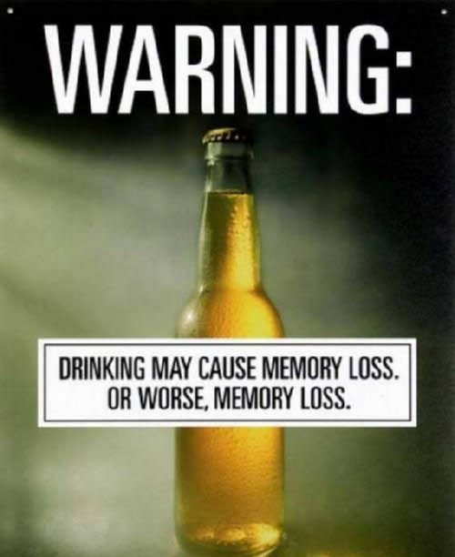 Warning against Drinking